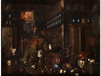 junger mann beim besuch einer apotheke by giovanni domenico valentino