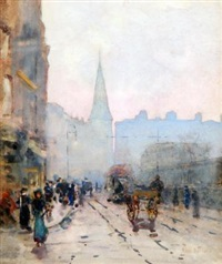 view of st andrews church from lower dawson st, dublin by rose maynard barton