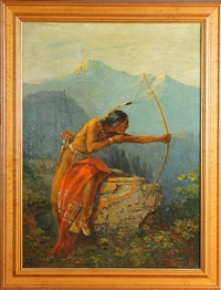 native american bow hunting by h. i. marlatt