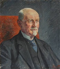 portrait of veterinarian lorentzen by sigurd swane