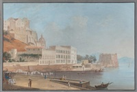 vue de naples, la château de l'oeuf by saverio xavier della gatta