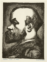 portrait verlaine (2 works) by georges rouault