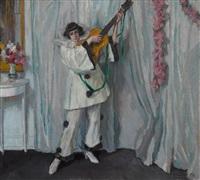 pierrette mit gitarre by ferdinand dorsch
