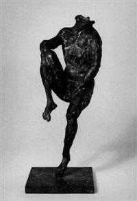 sitzende männliche figur by karl bobek
