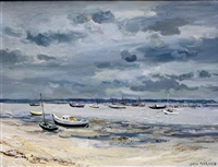 plage à andernos by jean rigaud