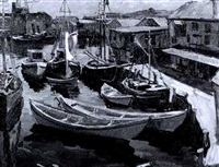 fishing boats, gloucester by donald blagge barton