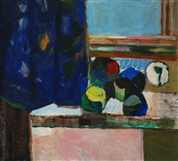 still life at window by alois fisarek