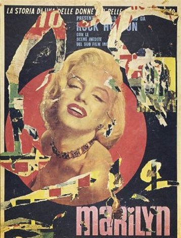 senza titolo marylin by mimmo rotella