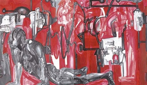 in the chambers of the monkey god diptych by probir gupta