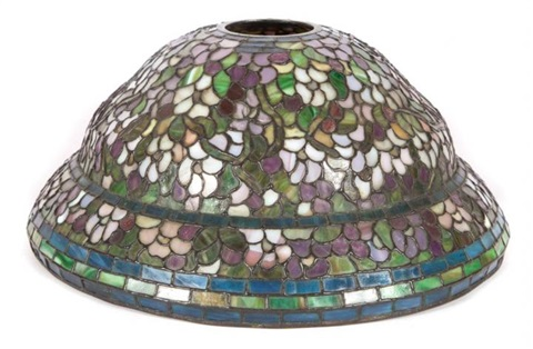 Duffner kimberly floral decorated leaded glass lamp shade by tiffany duffner kimberly floral decorated leaded glass lamp shade by tiffany studios aloadofball Gallery