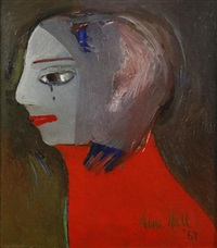 weeping woman (1967) girl with red top by anne marie hall