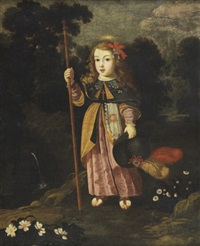 menino jesus peregrino by josefa de (obidos) ayala