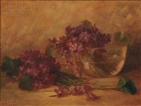 still life with violets by benjamin champney