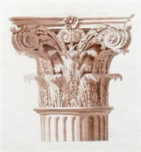capital of a column inside the pantheon by joseph michael gandy