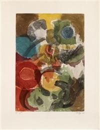 farbaquatinta 1958-1, karneol by ernst wilhelm nay