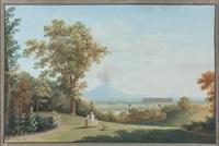 vue de la campagne napolitaine by saverio xavier della gatta