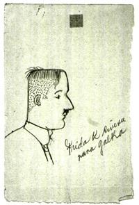 porträt von diego rivera (sketch) by frida kahlo