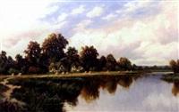river landscape by frederick d. ogden