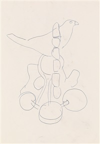la colombe; la femme au panier (recto/verso) by fernand léger