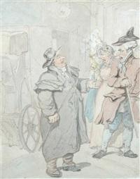 a dispute over a coach fare by thomas rowlandson