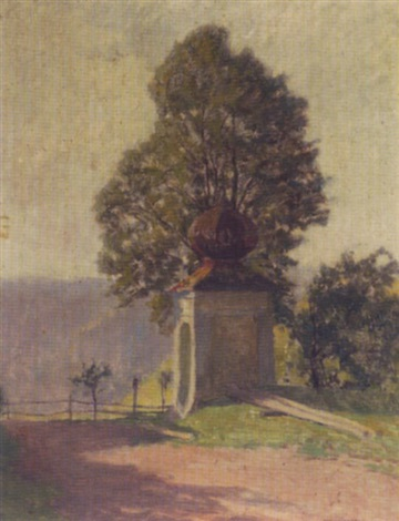 kapelle am wegrand by anton hans karlinsky