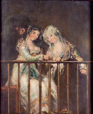 majas en el balcón by eugenio lucas velázquez