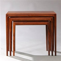 nesting tables (model 287) (set of 3) by johannes andersen