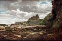 marina con ruinas de castillo by dionisio fierros