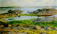 utsikt över karlshamns inlopp by ernst smith