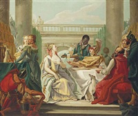 the banquet of cleopatra and marc anthony by giovanni battista tiepolo