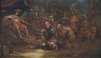 könig salomon empfängt die königin von saba by leonard bramer
