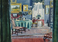 home interiors (2 works) by louis charles vogt