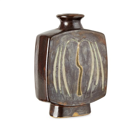 St Ives Pottery Stoneware Slab Vase By Bernard Leach On Artnet