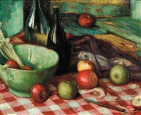still life with apples by o. victor humann
