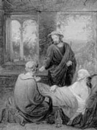 den barmhjertige samaritan. skitse by christian emil andersen