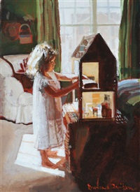 girl & dolls house by rowland davidson