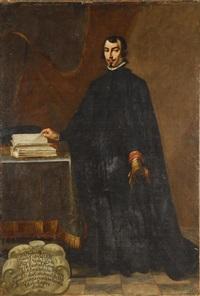 retrato de d. pedro de larrea y enaio, colegial de alcalá, de cuerpo entero by spanish school-madrid (17)