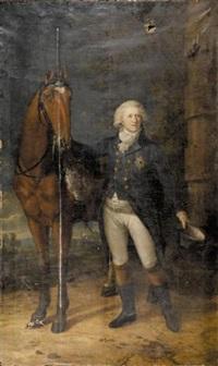 portrait of carl georg august hereditary prince of brunswick by friedrich georg weitsch