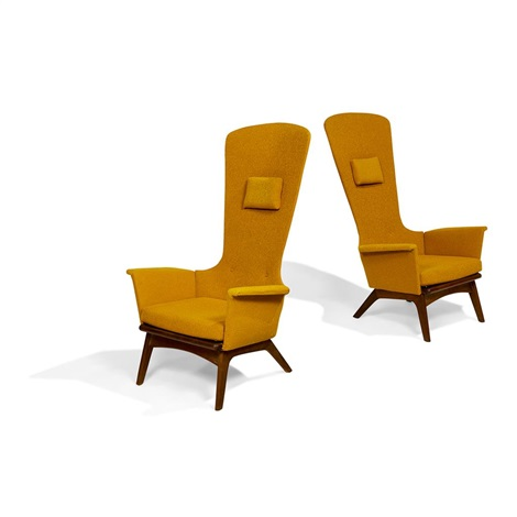 Wondrous High Back Lounge Chairs Pair Model Number 1534 C By Adrian Camellatalisay Diy Chair Ideas Camellatalisaycom