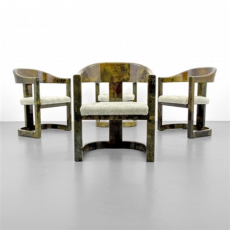Karl Springer Onassis Chairs, Set Of 4 By Karl Springer