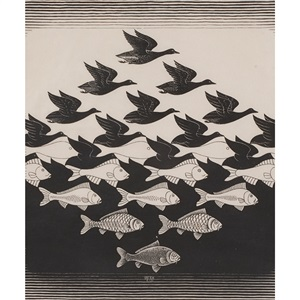 sky and water i by m c escher