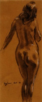 nude study by walter ufer