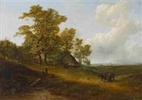 weite holländische landschaft mit bauernkate by pieter lodewijk francisco kluyver