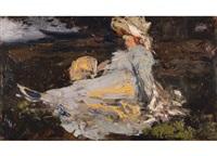 elegante dame by henri (hirne) le riche