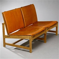 two-seater sofa bench by arne karlsen and peter hjorth