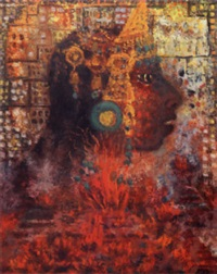 cabeza de maya by olga costa