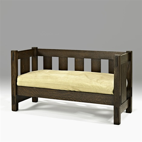 hall bench by gustav stickley