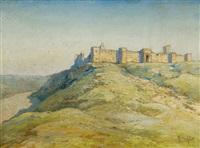 forteresse dans le désert by marius hubert-robert