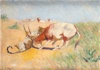 gephard und antilope by carl appel