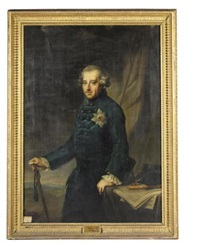 portrait of friedrich ii king of prussia by johann georg ziesenis
